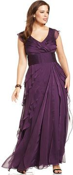 379c3b7e4213 Adrianna Papell Plus Size Dress, Sleeveless Tiered Empire Waist Evening Gown  on shopstyle.com