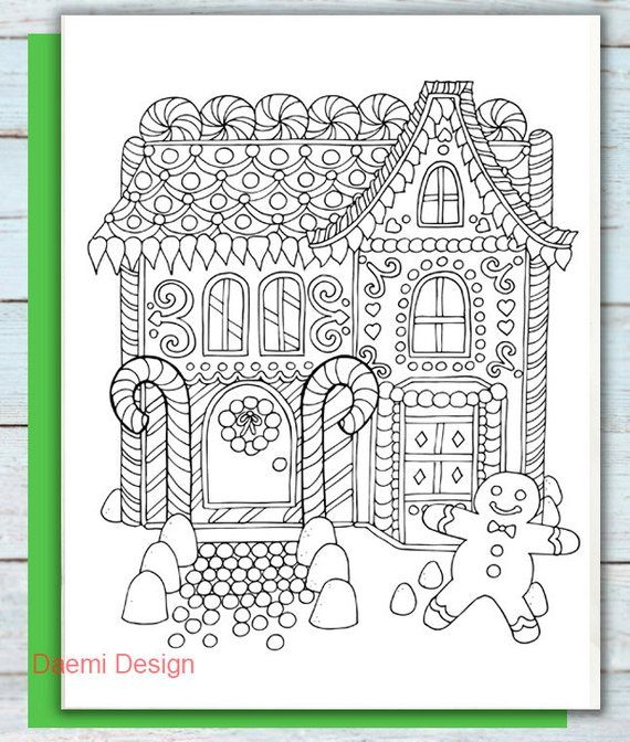 Holiday Gingerbread House Coloring Page House Colouring Pages