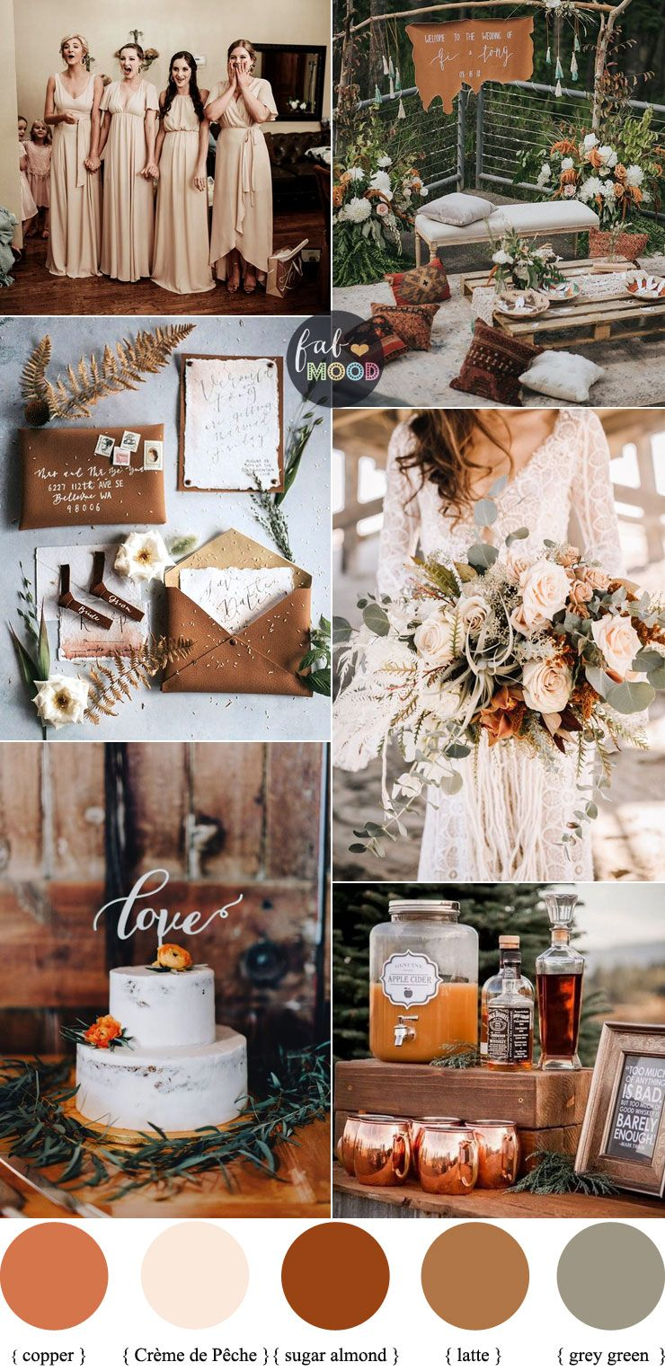 Earth Tones Wedding Color Palette With Copper Accents For Autumn Wedding 1 - Fab…