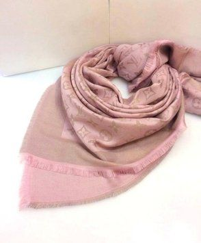 21084f409 Get the lowest price on LOUIS VUITTON Shawl Pink Silver Monogram Lurex  Shine and other fabulous designer clothing and accessories! Shop Tradesy now