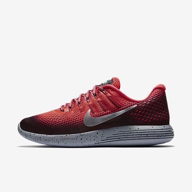 Nike Men Lunarglide 8 Shield Running Shoe Bright Crimson