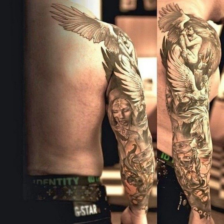 Tatouage Ange Un Message Profond Ou Un Look Branche Tatoo Love