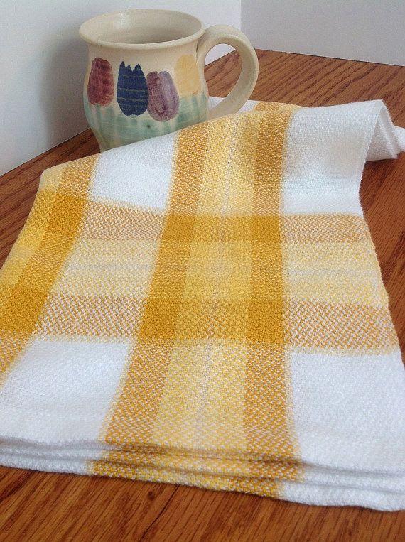 Handwoven Sunflower Towel Kitchen Bath Hand by FrederickAvenue ...