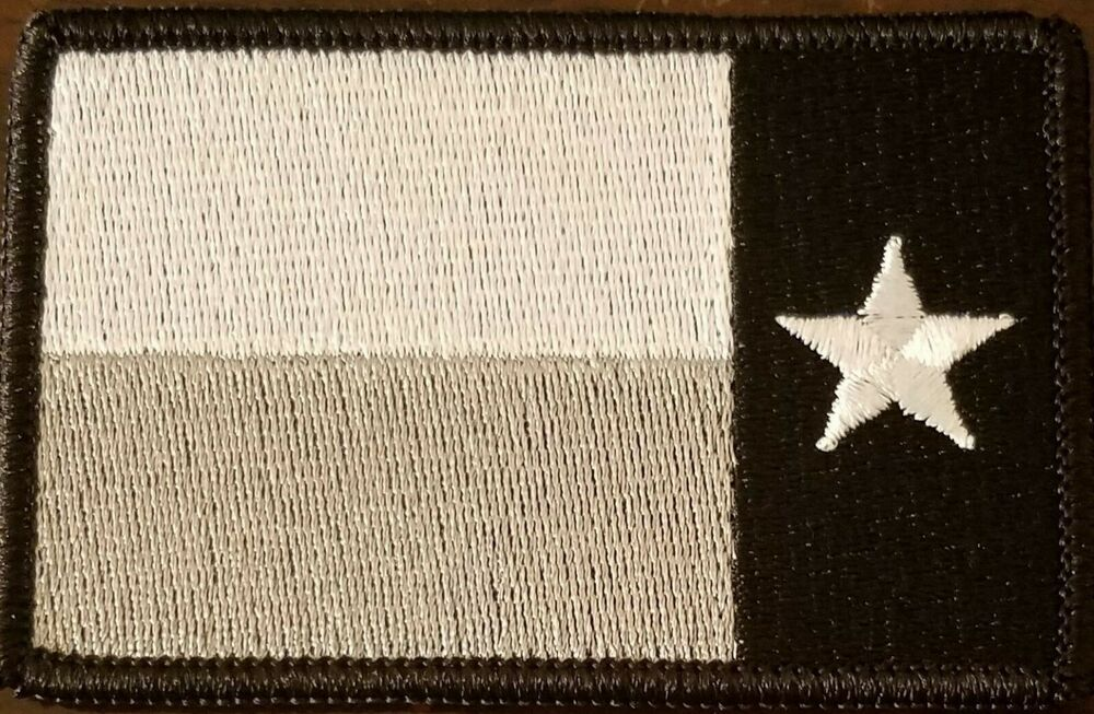Texas Left Reverse Flag Patch Iron On Tactical Morale Gray Black Star Emblem Flag Patches Patches Embroidered Patches
