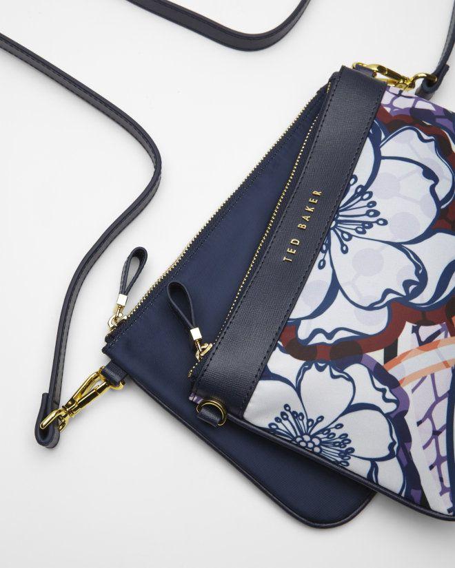 5714a63de3 Africa Tribal cross body bag - Navy | Bags | Ted Baker UK | Handbags ...