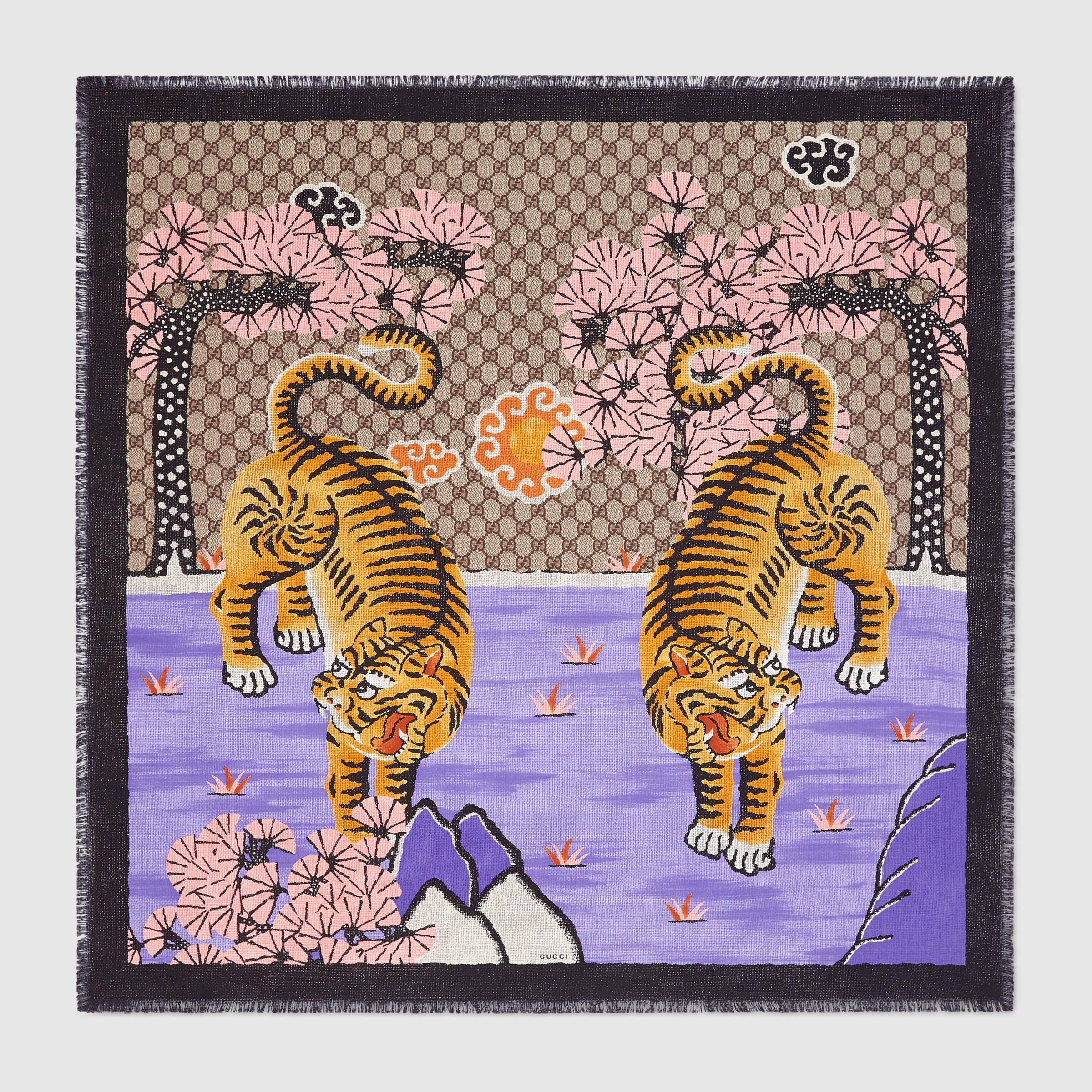 ca6874cd8e9d gucci bengal scarf   Wish list   Silk scarves, Gucci, Silk