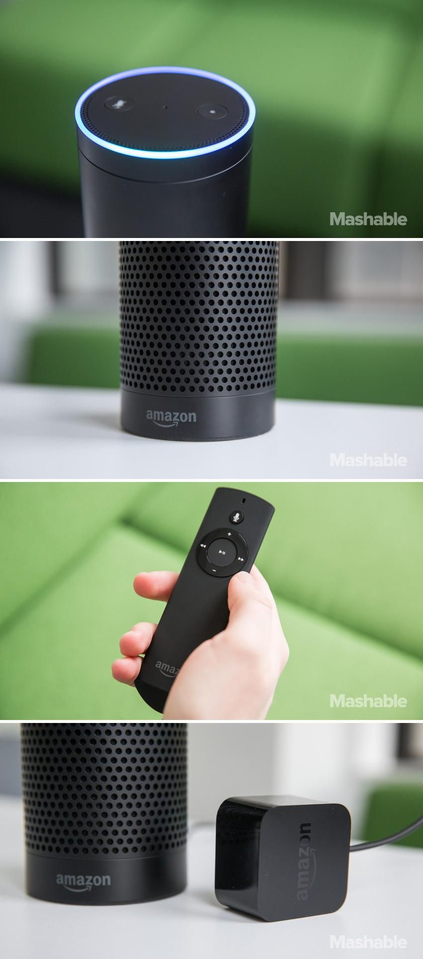 The Amazon Echo -- It's one part Bluetooth speaker and one part personal voice…