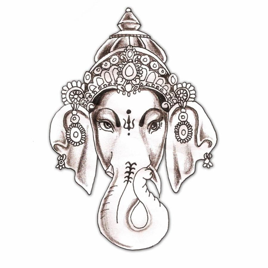 Elephant Tattoo Hindu Hindu Elephant God God Ganesha Tattoo Design