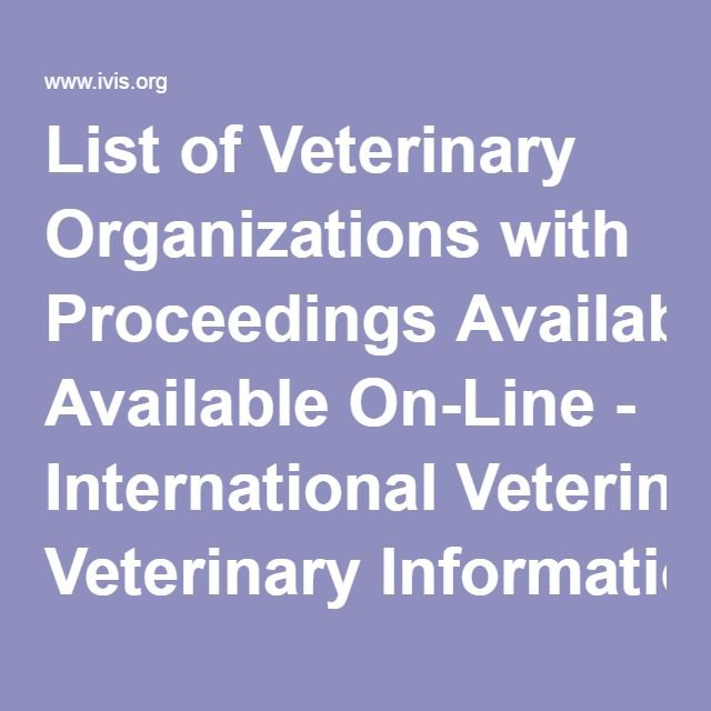 List of Veterinary Organizations with Proceedings Available On - veterinary pathologist sample resume