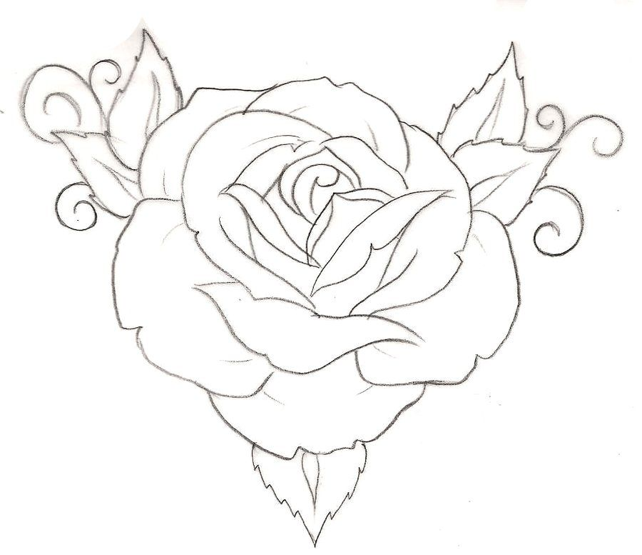 Simple Line Art Rose : Rose tattoo by metacharis on deviantart tattoos and