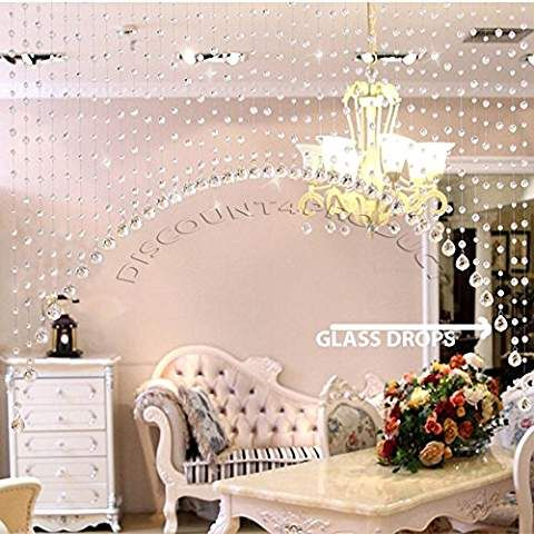 Discount4product Ark shape Crystal bead curtain 30 string for