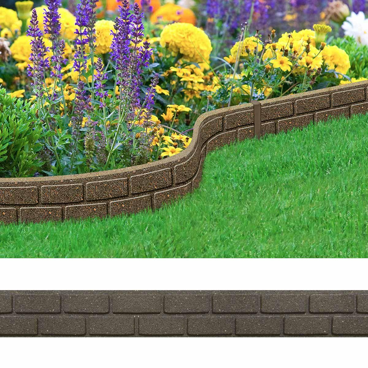 Bordure De Jardin Effet Briques 120cm Caoutchouc Recycla C Com