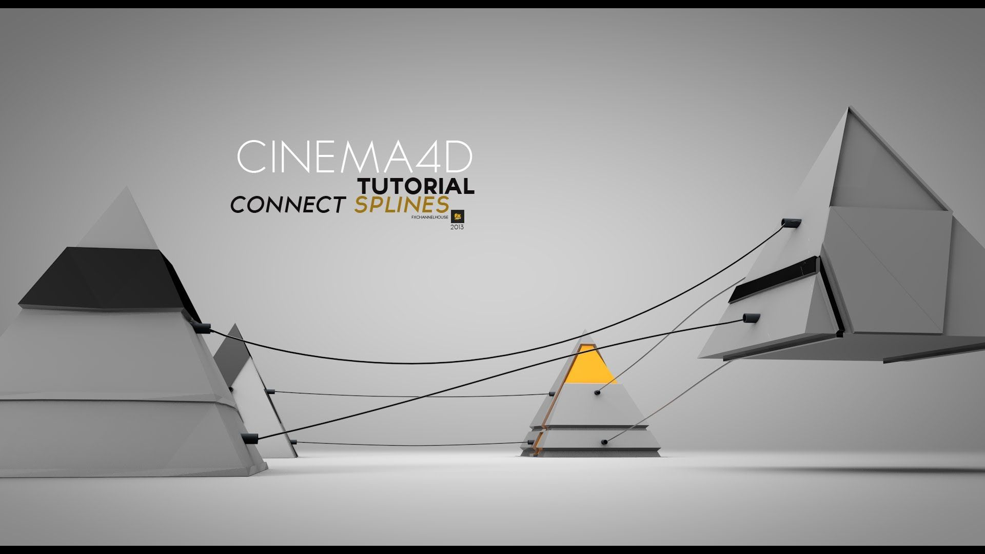 cinema4d dynamic splines tutorial connect wires c4d. Black Bedroom Furniture Sets. Home Design Ideas