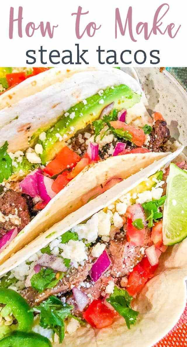 We're teaching how to make the best steak tacos recipe. Everything you need to know from steak rubs to taco toppings. You've never had a street taco like this! #steakrubs