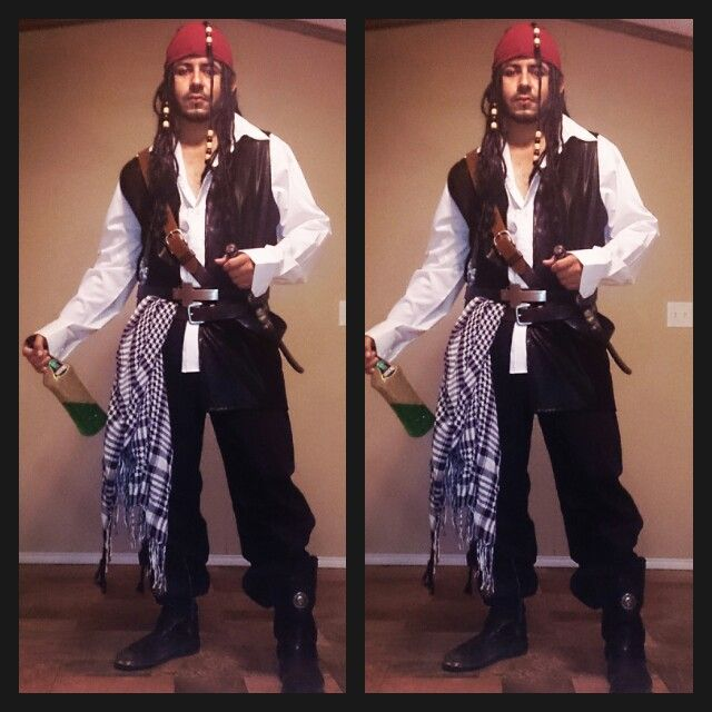 Homemade jack sparrow costume.Disney themed party. disney character costume  sc 1 st  Pinterest & Homemade jack sparrow costume.Disney themed party. disney character ...