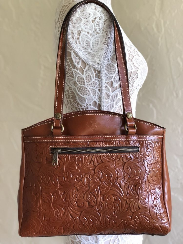 Patricia Nash Tooled Rose Poppy Tote Florence Leather 887986099163 ... 8925ba01e4647
