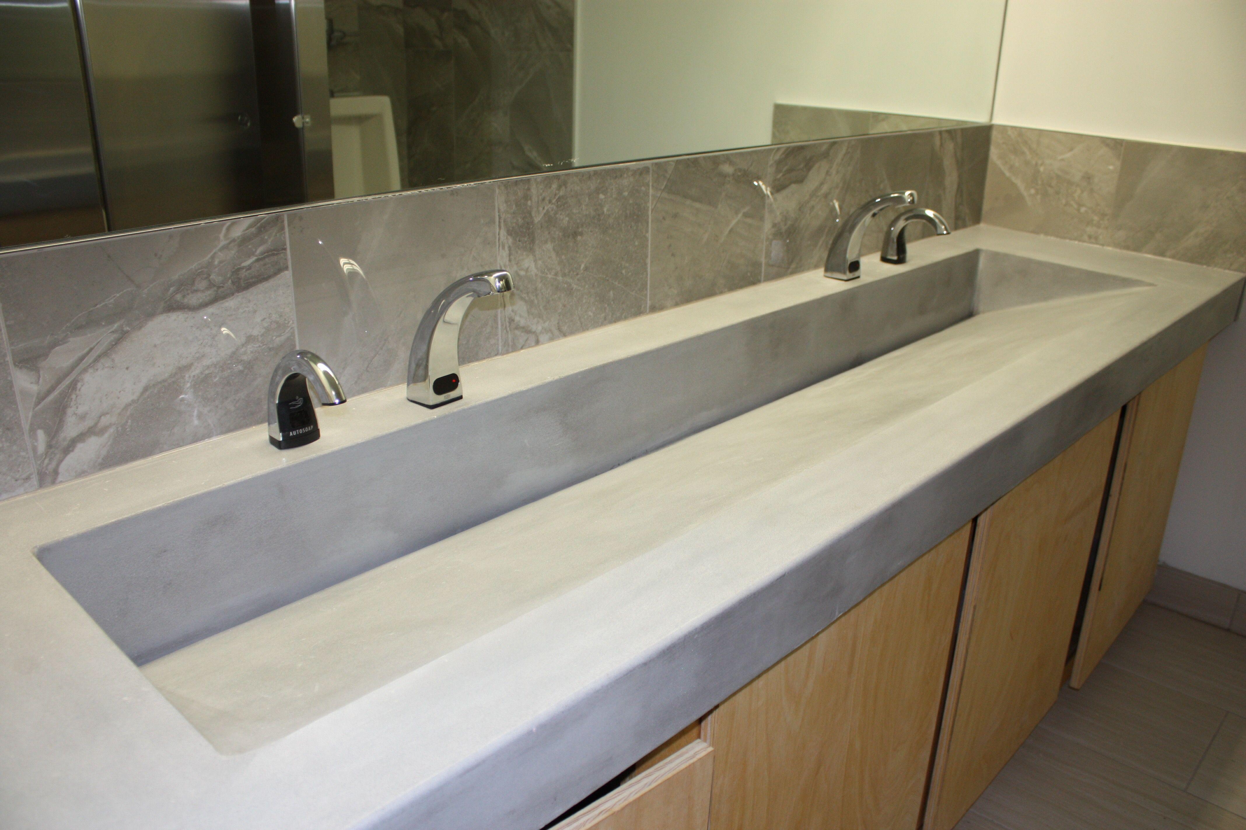 concrete trough sinks