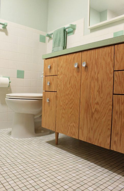Kates S Green Bathroom Remodel Lite Before And After - 1960 bathroom remodel