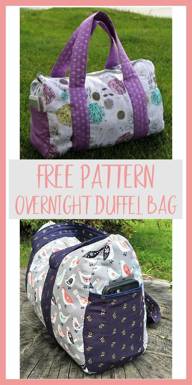 Overnight Duffel Bag - Free Pattern #bagpatterns