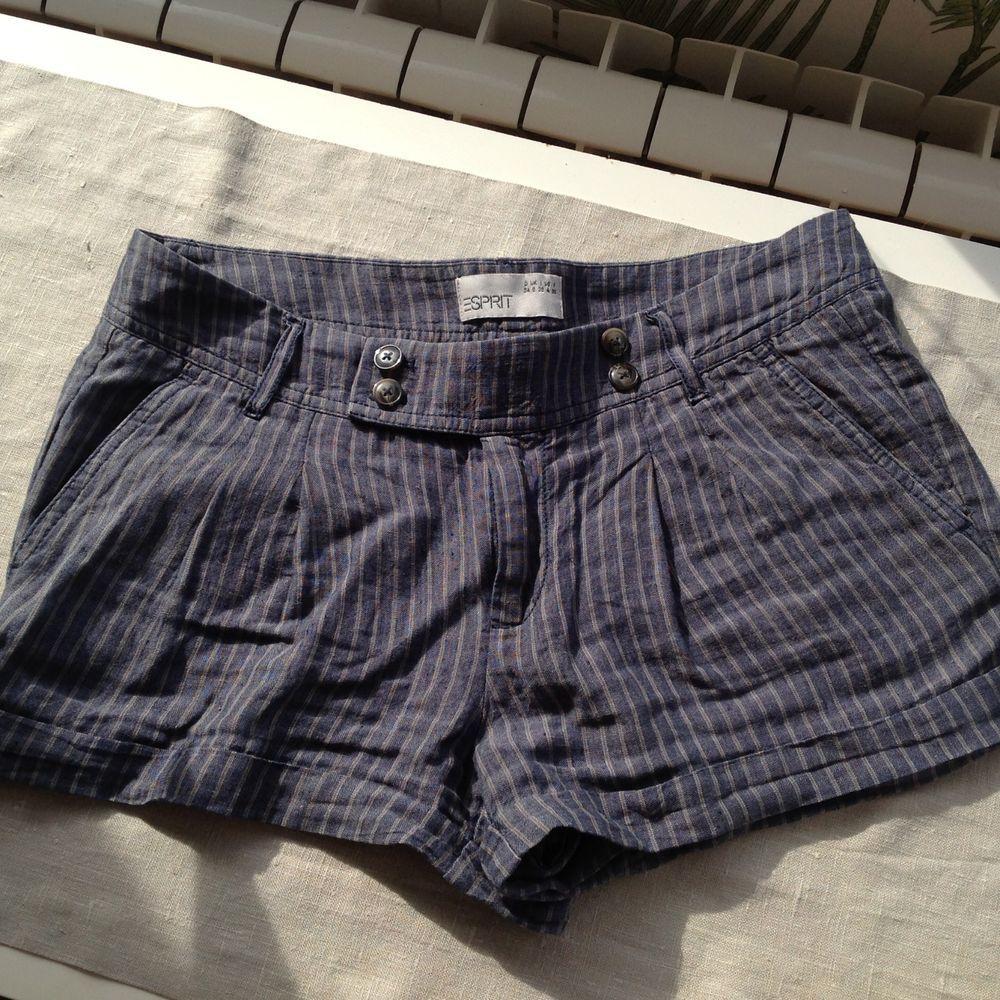 Esprit Damen Shorts kurze Hose Leinen gestreift blau Gr. 34   Nähen ... a8b43c6d43