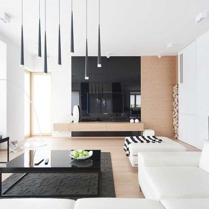 Widawscy Studio Architektury have designed the interiors of a home in Jaworzno, Poland.