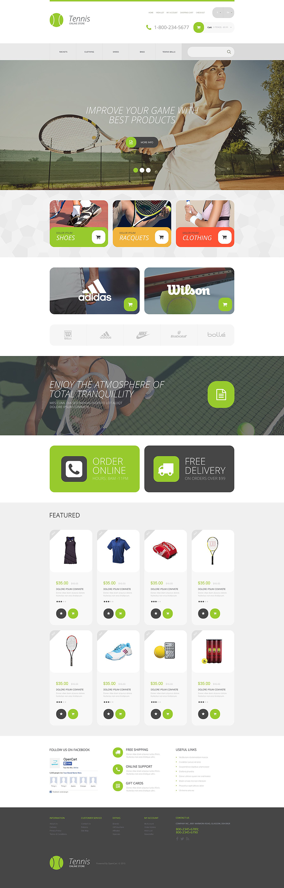 Sports Store OpenCart Template OpenCart Themes