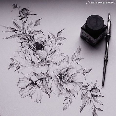 Blumen Designs + 120 Designs – Tattoos Ideen #flowertattoos - Flower Tattoo Designs - tatos