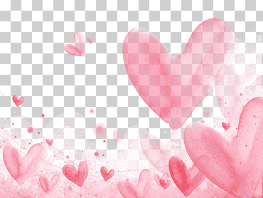 Pink Hearts Illustration Romance Falling In Love Watercolor Painting Heart Floating Hearts Background Love Post Heart Illustration Pink Heart Heart Artwork