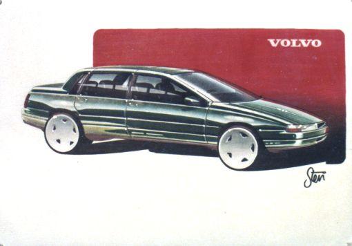 Volvo 850 Sketch by Stephen Harper - 1985