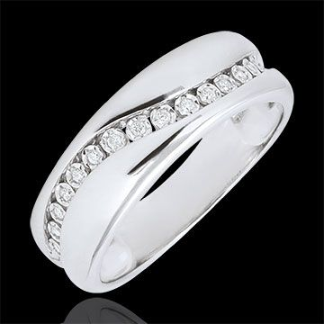 cadeau femme Bague or blanc et diamants - Edenamour Multi-diamants