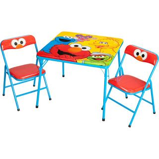 Simple Elmo Folding Table And Chair Set.