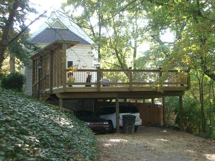 Carport under deck carport deck jpg 800 600 pixels for Carport deck