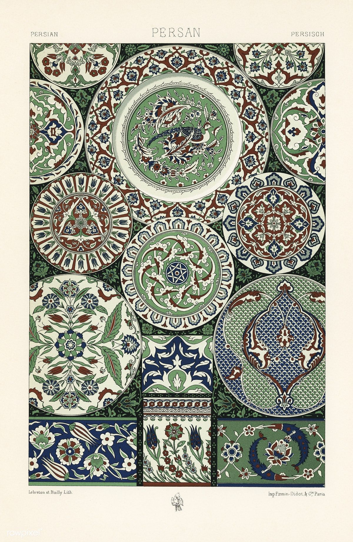 Free Public Domain Www Rawpixel Com Th Century Pattern From L Ornement Polychrome