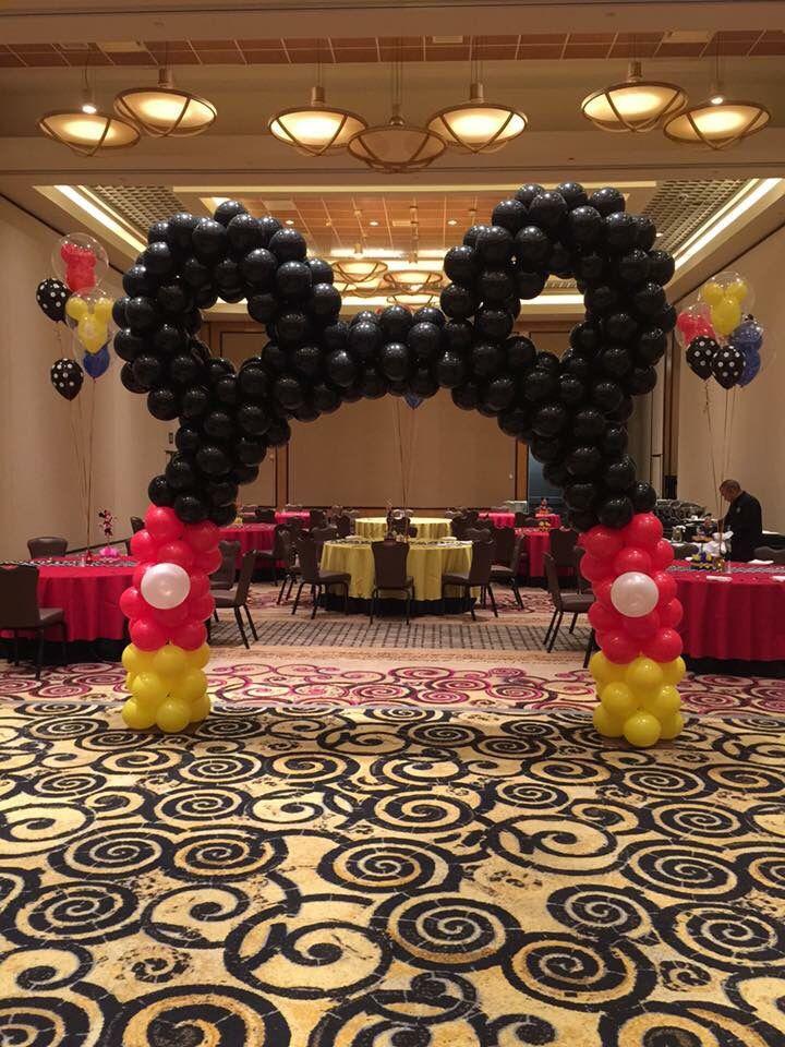 Mickey Mouse Balloon arch | Mickey Mouse Balloon Decoration ...