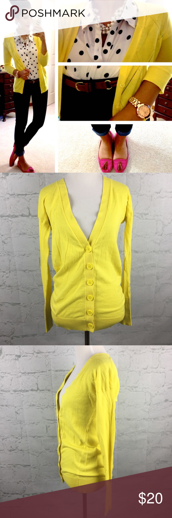 Express yellow long cardigan XS Adorable bright yellow button Down ...