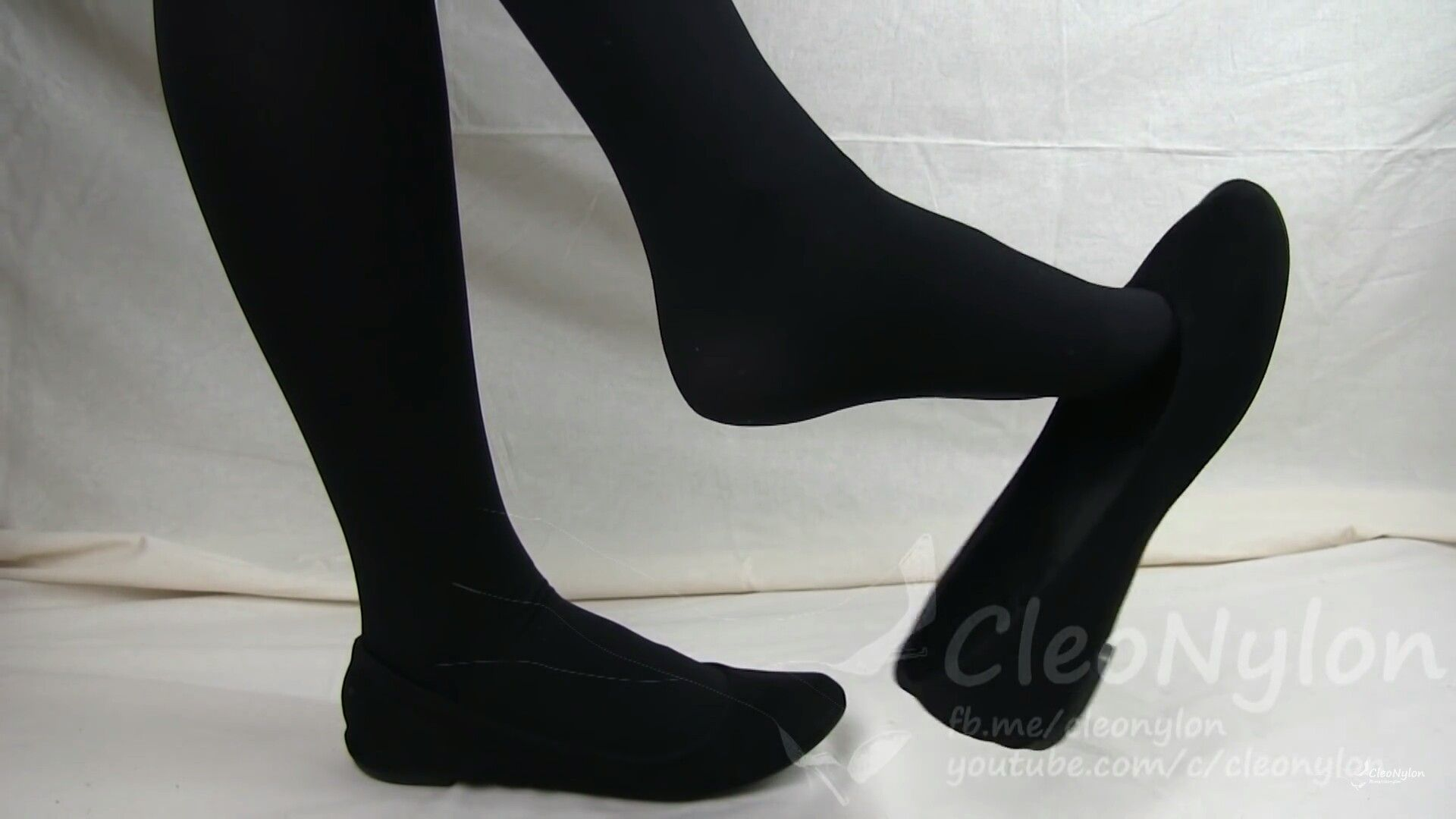 cb988fac783 Here are my beautiful black opaque tights and dangling my flats ...