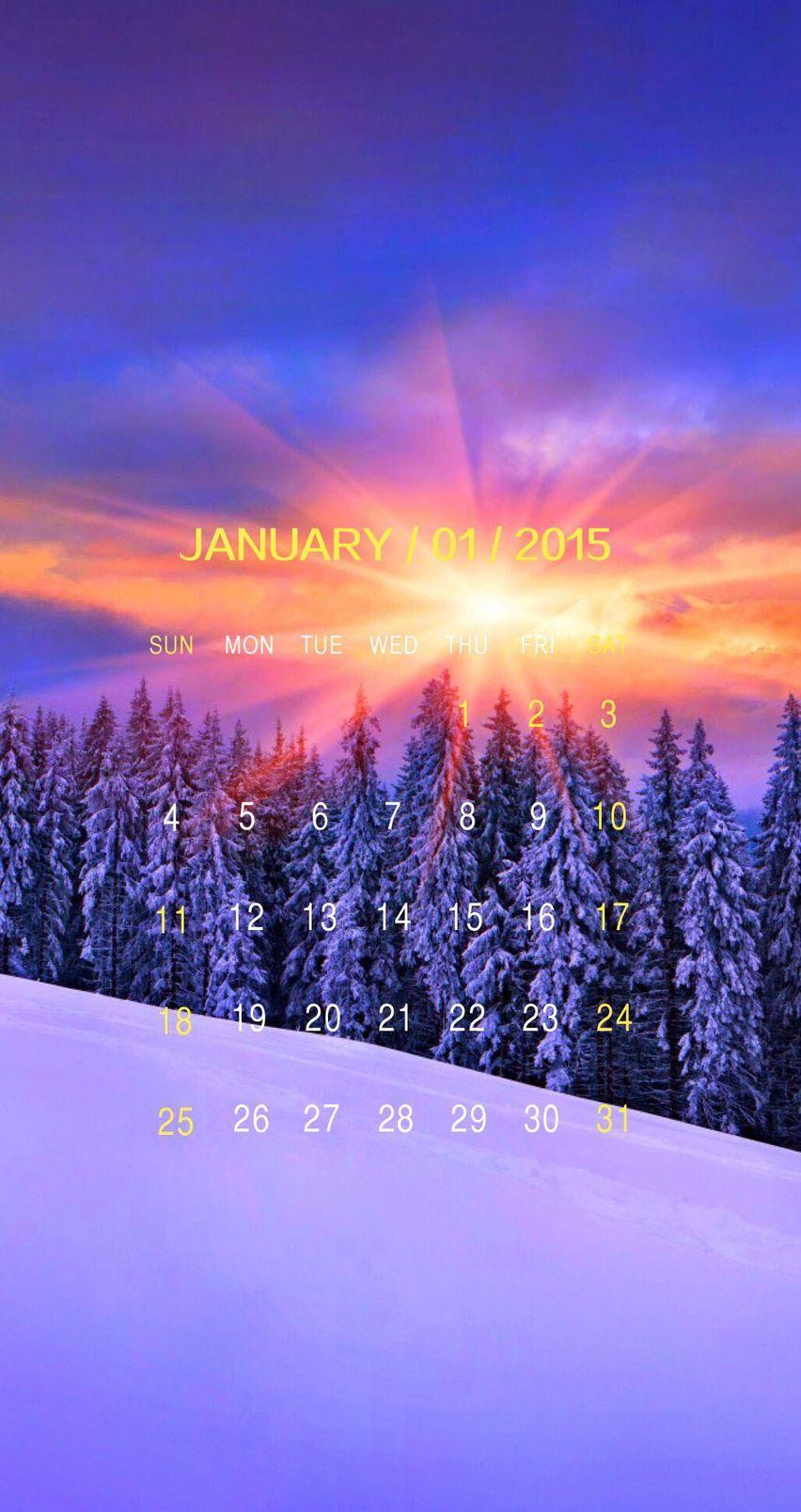 Calendar Wallpaper January : Beautiful iphone calendar wallpapers for january