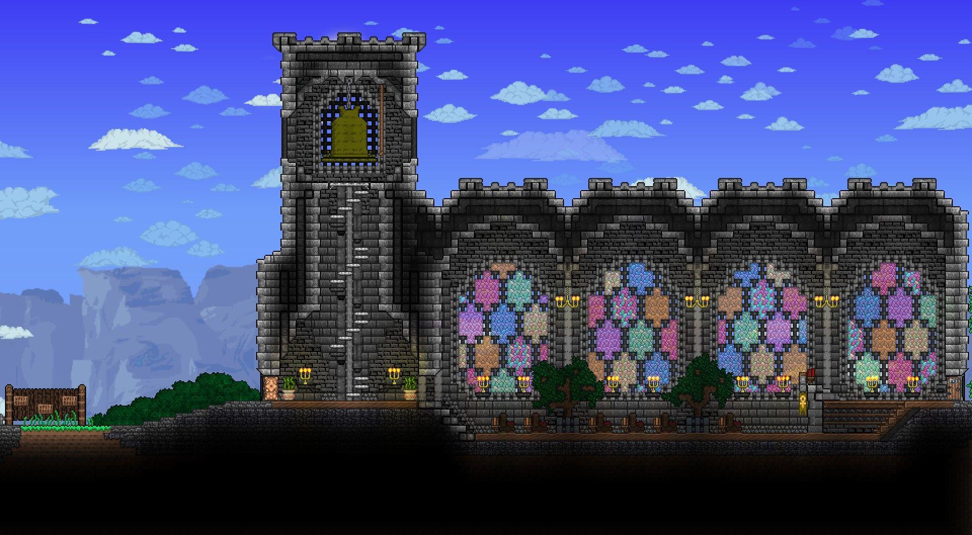 Church With Bell By Khaios Terraria House Design Terraria