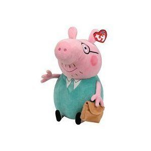 696f2936a61 Ty Beanie Baby Peppa Pig - Daddy Ty Beanie Buddy Large Plush Toy   Amazon.co.uk  Toys   Games