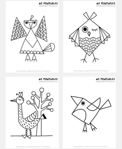 Free Printable Abstract Bird Coloring Pages Free printable, Bird