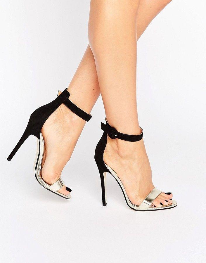 c9ee449c77 Public Desire Coraline Ankle Strap Heeled Sandals | Under $50 in ...