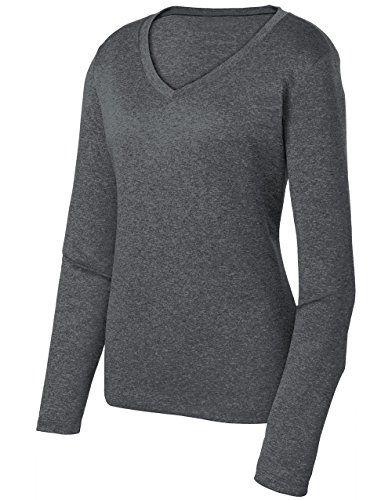 e59b803ffb7 Ladies Long Sleeve Moisture Wicking Athletic Shirts Sizes XS-4XL GRAHE