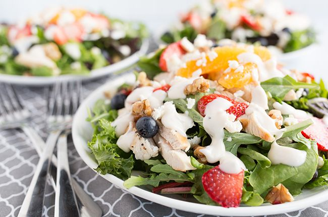 Recipe Skinny Grilled Fruit And Chicken Salad Skinny Mom Filling Salad Recipes Recipes Dressing For Fruit Salad