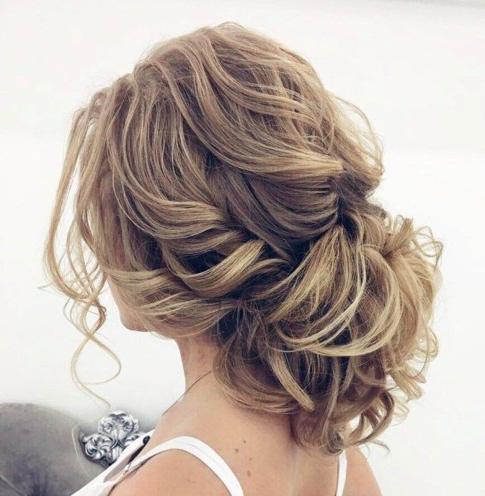 40 Lovely Low Bun Hairstyles for Your Inspiration in 2020   Short hair updo, Loose curly updo ...