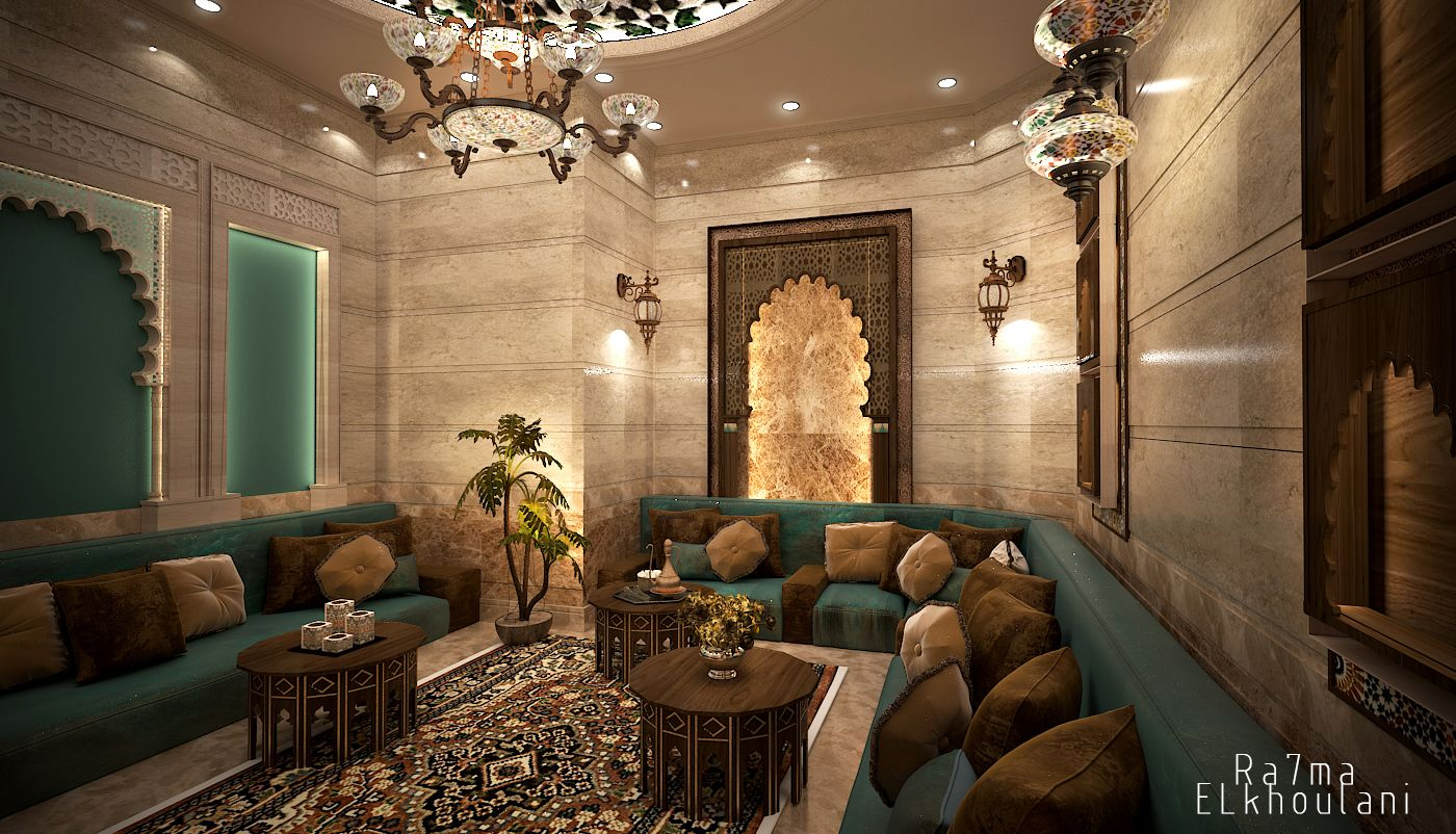 Interior Design Moroccan sitting room , In Saudi Arabia