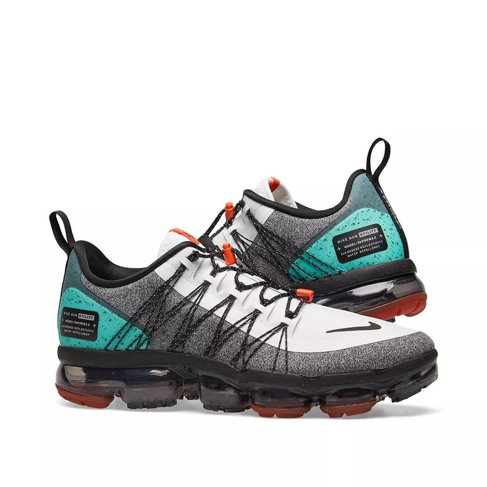 NIKE AIR VAPORMAX RUN UTILITY NRG WHITE, BLACK & ORANGE