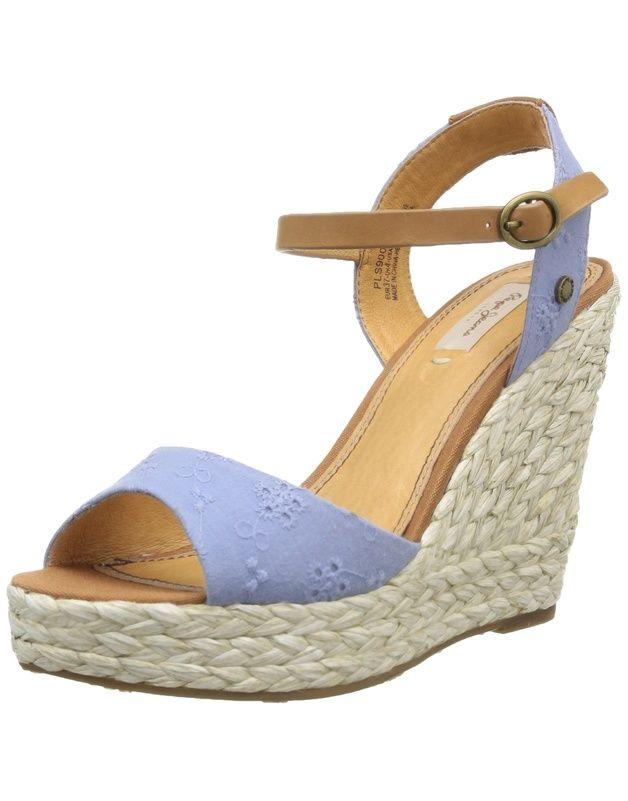 Pepe Jeans Walker Embrodery, Sandales femme: Amazon.fr: Chaussures et Sacs