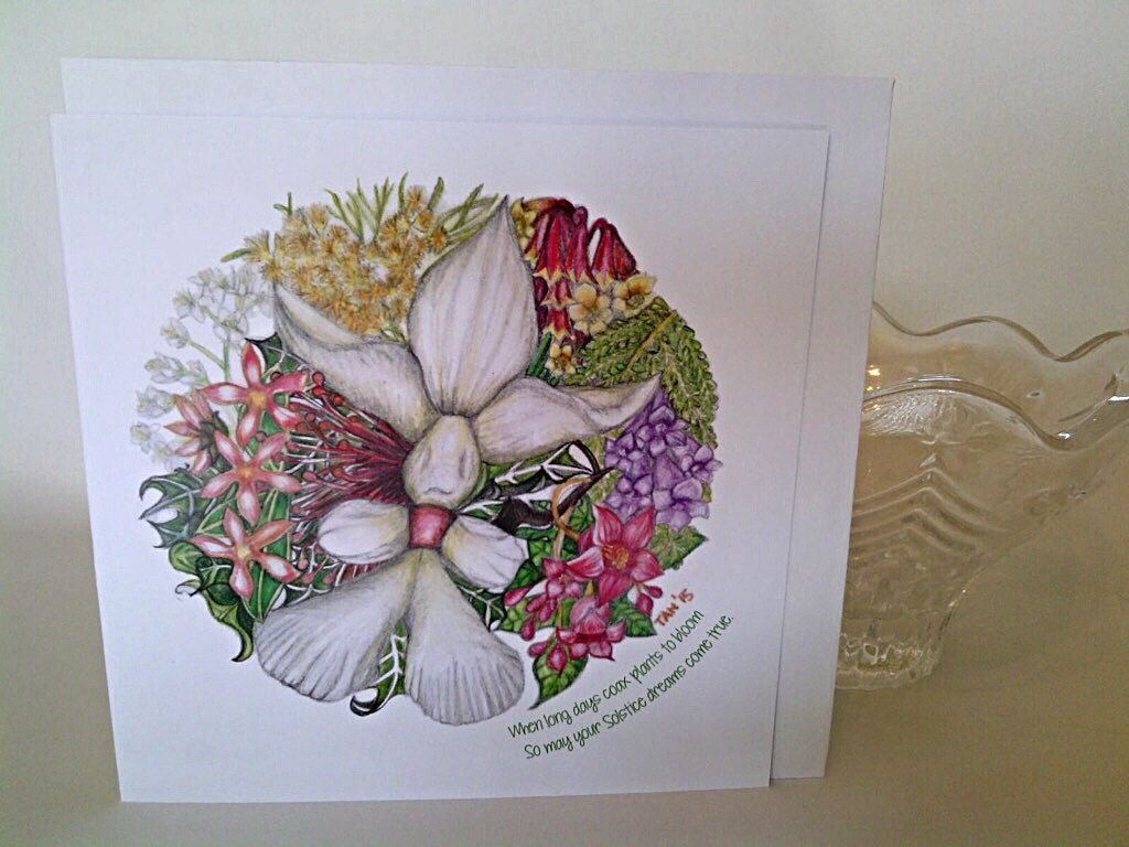 Summer solstice greeting cards pack of 6 christmas colour print summer solstice greeting cards pack of 6 christmas colour print of pencil sketch on kristyandbryce Image collections