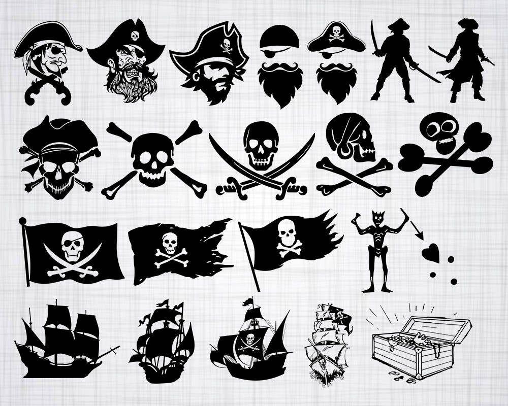 Pirate svg Pirate svg bundle Pirate skull svg Pirate clipart Pirate silhouette Skull and bones svg Skull sword svg Pirate clip art png svg