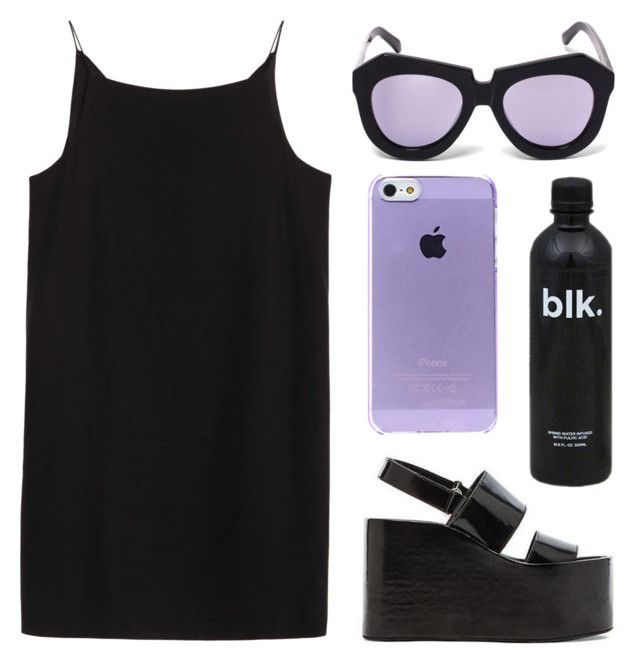 """""""blk"""" by baludna ❤ liked on Polyvore featuring moda, Karen Walker, T By Alexander Wang i Jeffrey Campbell"""